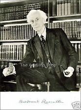 Bertrand Russell signed photo print