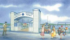 The Mumbles Pier entrance, Swansea - Greetings Card - Tony Paultyn