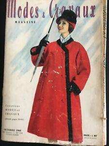 Magazine Modes & Travaux  Octobre 1960