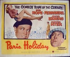 PARIS HOLIDAY half sheet movie poster 22x28 FERNANDEL BOB HOPE ANITA EKBERG 1958