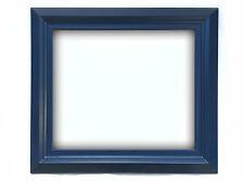Cornice Classica in Legno - Interno 50x60 cm. - Quadro Blu Scuro