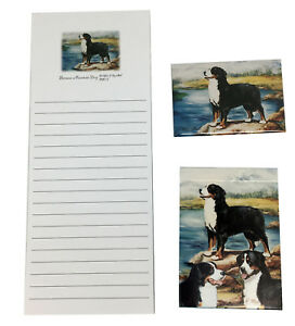 NEW Bernese Mountain Dog 3-Pc Berner Puppy Gift Set Playing Cards Notepad Magnet