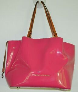 Dooney & Bourke, Fuchsia, Flynn, Tote, Patent Leather, Brand New, Dust Cover