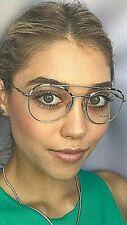 New PRADA  VPR 5U5 UAO-1O1 Round 51mm Gold Eyeglasses Frame