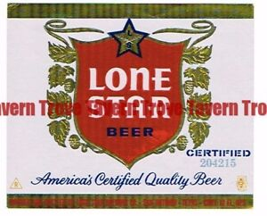 Unused 1960s TEXAS San Antonio LONE STAR BEER 204215 12oz Label