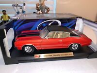 Maisto 1972 Red / Black Chevrolet Chevy Chevelle SS 454 1:18 Diecast Car SOLID!