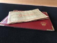 Genuine Rolex Blank Guarantee Warranty 1964 Very Rare Vintage