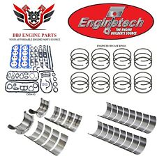 ENGINETECH CHEVY BBC 454 RE RING REBUILD KIT WITH MAIN BEARINGS 1980 - 1990