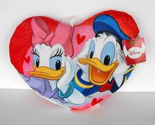 Rare Disney Donald and Daisy Duck 13 inch Plush Pillow Heart MINT Netherlands