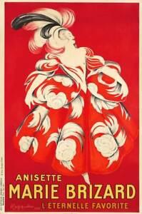 Anisette Marie Brizard Cappiello Vintage French Wine spirits Canvas Print 13X20