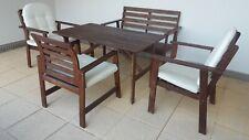 Holz Gartentisch Set-5-tlg. plus 5 Polster