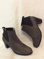 Hobbs Grey Ankle Leather Boots Size 39