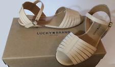 Lucky Brand Women's Leather Channing Flat Sandal - NIB - Originally  $79.00