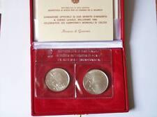 MONETA LIRE 500 E 1000 FDC R. SAN MARINO MONDIALI CALCIO 1990 SILVER  (17 G3)