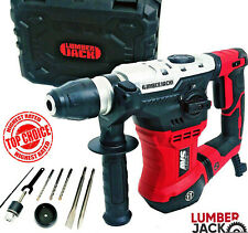 Lumberjack SDS Impact Rotary Hammer Drill 240V 1050W with Chisel Bit set & Case
