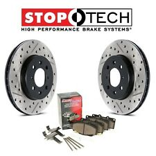 Cayenne Touareg Q7 Rear Drilled & Slotted Brake Discs Metallic Pads StopTech Set