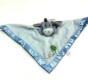 Disney Baby Eeyore Security Blanket Blankee Snuggie Lovey Blue Soft Velour