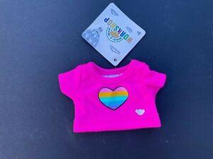 Build-A-Bear Buddies™ Rainbow Heart T-Shirt - New