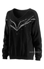 V Neck Long Sleeve Jumper & Cardigan Plus Size for Women