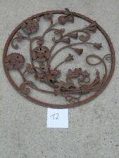 fronton, plaque, grande grille murale en fer forgé, modèle florale , n° 12