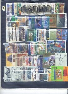 MEXICO Collection 1400 Differents  Only Commemoratives Used Stamps  1932-2000