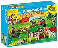 4167 Playmobil Advent Calendar; rare BRAND NEW Pony Ranch located (Box Damaged)