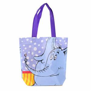 Dr. Seuss Recycled Shopping Tote Bag, Horton the Elephant Reusable Kids Shopper