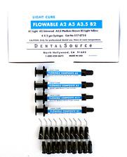Light Cure FLOWABLE Composite 4 Syringe Kit Shade A2,A3,A3.5,B2