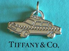 Tiffany & Co Taxi Cab Car Charm Sterling Silver Jump Ring 4 Bracelet Pendant New