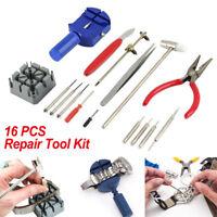 16pcs Watch Repair Kit Tools Wrist Spring Pin Strap Link Back Opener Remover