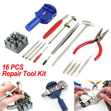 16pcs Watch Repair Kit Tools Wrist Spring Pin Strap Link Back Opener Remover