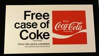Vintage FREE Case of COKE Punch Card with Old Coca-Cola Logo