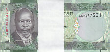SOUTH SUDAN 1 POUND 2011 P-5 ONE BUNDLE OF 100 UNC NOTES */*