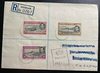 1940 Ascension Registered Censored Cover To England Sc#47 48 49