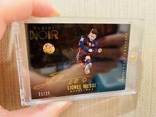 2016-17 Panini Noir Soccer Lionel Messi Barcelona Autograph #21/25