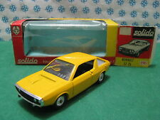 Vintage Solido serie 100 -  RENAULT  17 TS    -  1/43  Solido  196