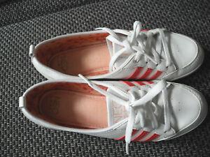 👟Adidas  Neo Piona Sneaker - Ballerina Weiß - Rot + Lack  Serie 2/12 Top