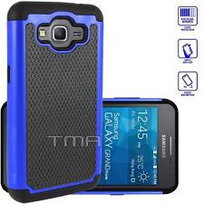 Samsung Galaxy Grand Prime SM-G530W G530H Rugged Dual Layer Hybrid Case - Blue