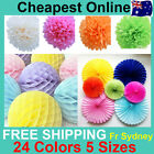 Tissue Paper Fans Pom Poms Honeycomb Ball Wedding Party Baby Living Room Decor