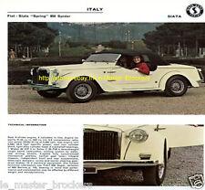 FIAT 500 SPIDER GAMINE_SAVIO_VIGNALE FIAT SPRING 850_FICHE AUTO PRESSE #GT2
