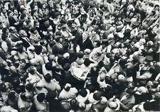 CARTE POSTALE PHOTO DANIEL PSENNY / HAUSSY JUIN 1981 PIERRE MAUROY MINISTRE