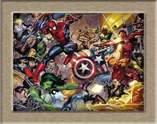 "Superhero comics poster HD Canvas Printing Print Home Decor Wall mural 12""X16"""