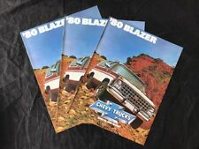 Original 1980 Chevrolet Blazer C10 & K10 NOS Sales Brochures Lot Of 3