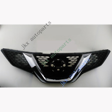 For Nissan Qashqai 15-18 Chrome Front Bumper Mesh Grille Grill Vent Hole k Mesh