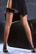 """Gio fully fashioned stockings 8.5"""" XS size long black point heel"""