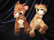 COMMONWEALTH STUFFED PLUSH RUDOLPH AND CLARICE THE RED NOSED REINDEER MOVIE TOY