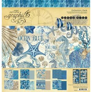 OCEAN BLUE Collection Pack 12x12 Scrapbooking Kit Graphic 45 4502016 New