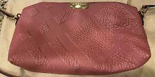 Burberry pink leather handbag