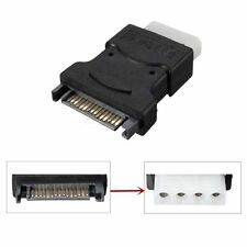 15 Pin SATA Male to 4 Pin Molex Female Power Adapter For IDE Hard Drive/CD/DVD