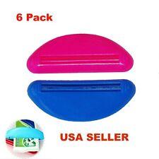 6 Ez Plastic Tube Squeezer Toothpaste Dispenser Holder Rolling Bathroom Extract